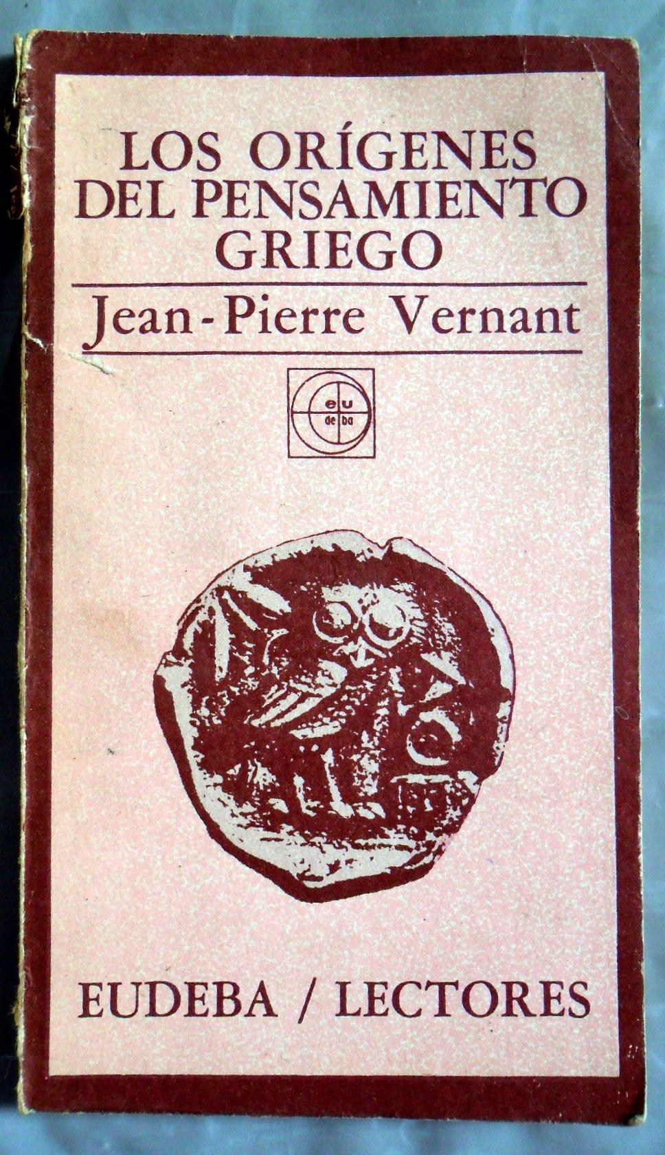 Los origenes del pensamiento griego amazon es jean pierre vernant libros