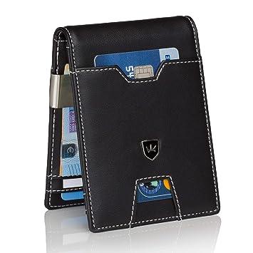 a2fd08ee5cb58 Kronenschein® Premium Geldbörse Herren mit Geldklammer Portemonnaie Männer  schlank Geldbeutel RFID Brieftasche Slim-Wallet