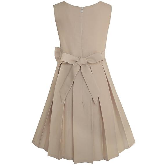 4441f38962b10 Sunny Fashion Robe Fille Bloc de Couleur Contraste Nœud Papillon De Tous  Les Jours Partie 4-14 Ans  Amazon.fr  Vêtements et accessoires