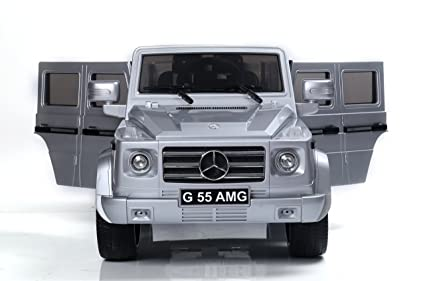 Mercedes Benz G55 AMG 12V Childrenu0027s Powered Ride On Car, Silver