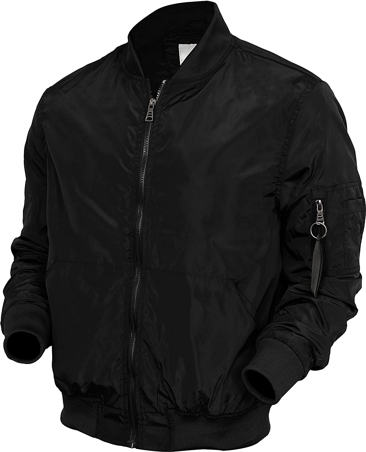 WIV Mens Bomber Jacket Active MA-1 Slim Fit Lightweight Windbreaker