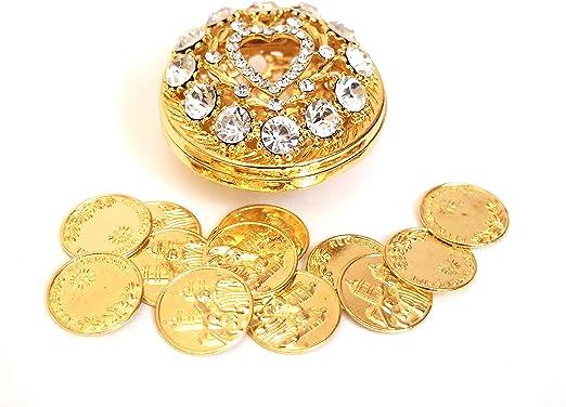 Amazon.com: Ronda rhinestone Arras de boda con monedas Set ...