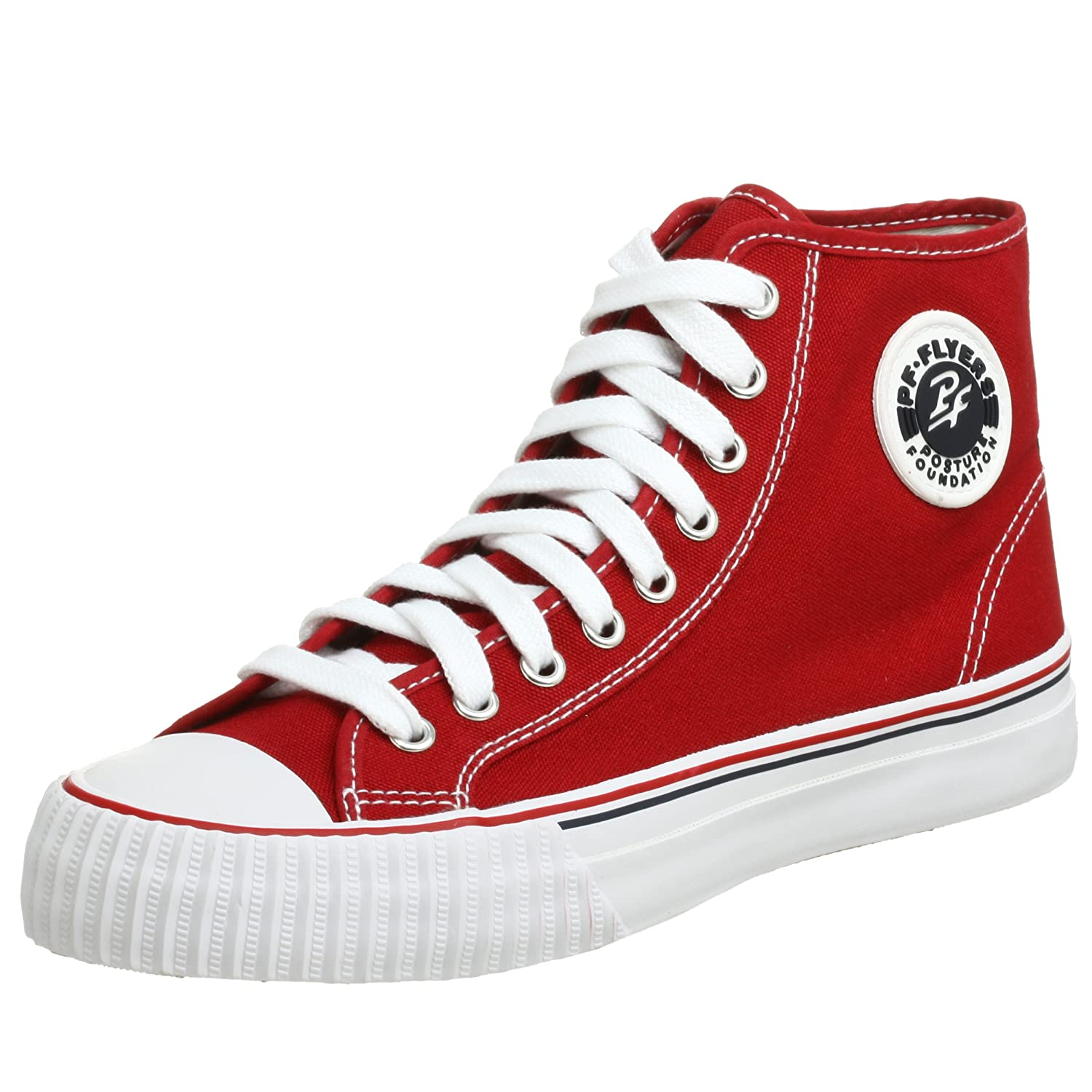 PF Flyers Men's Center Hi Sneaker B0012VF376 8 US Men's/9.5 M US Women's|Red