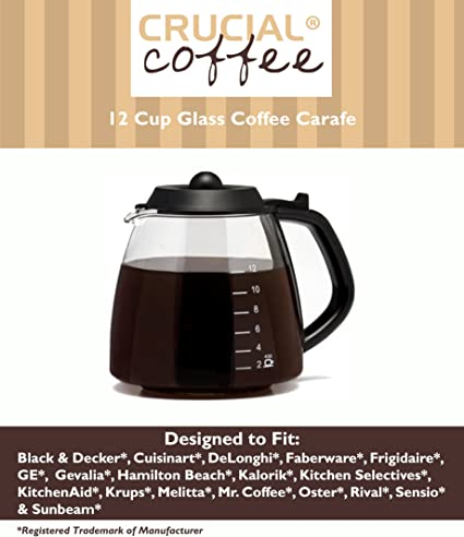 Amazon.com: Universal Fit 12 Taza de café (Cristal Jarra ...