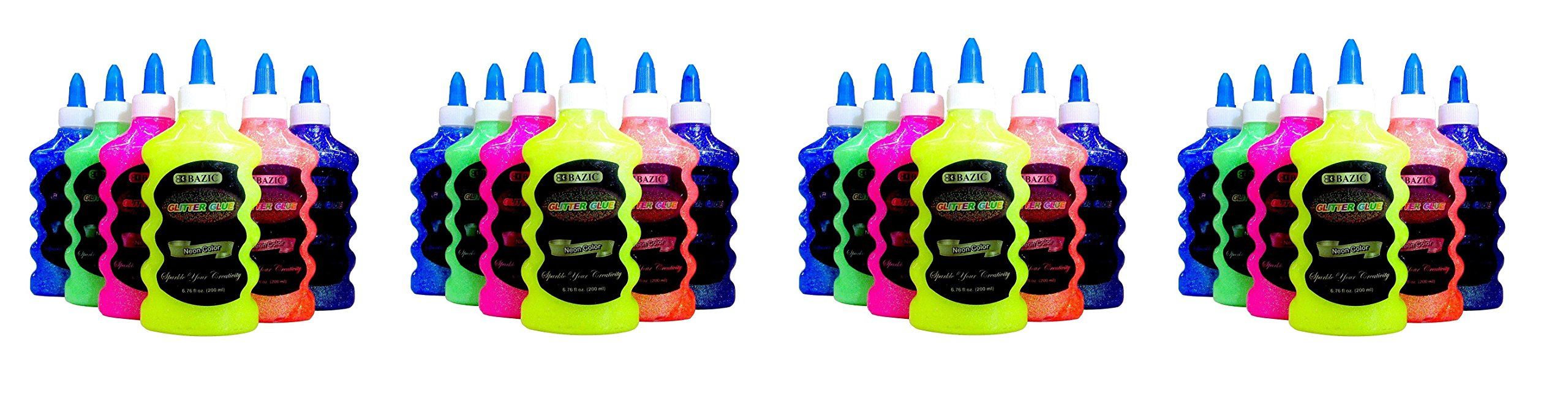 NEON Colors - Pink, Green, Blue, Yellow, Purple, and Orange (4 X Pack of 6)