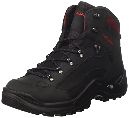 low priced ae64d bca53 LOWA Boots Men s Renegade GTX Mid Hiking Boots, Grey (Schwarz Rot),