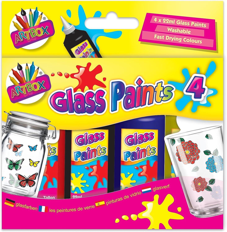 4 St/ück gemischt Einheitsgr/ö/ße Artbox Glasmal-Set