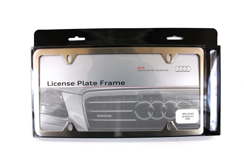 Genuine Audi Accessories ZAW355020 Brushed Slimline License Plate Frame Audi Genuine Accessories