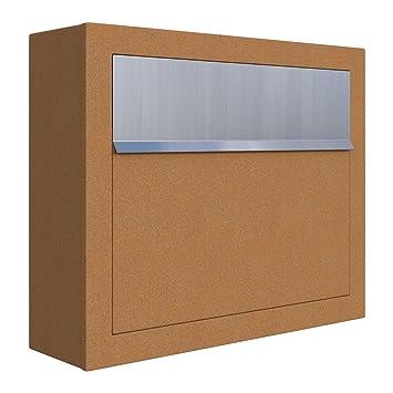 Briefkästen Design briefkasten design wandbriefkasten elegance rost edelstahl