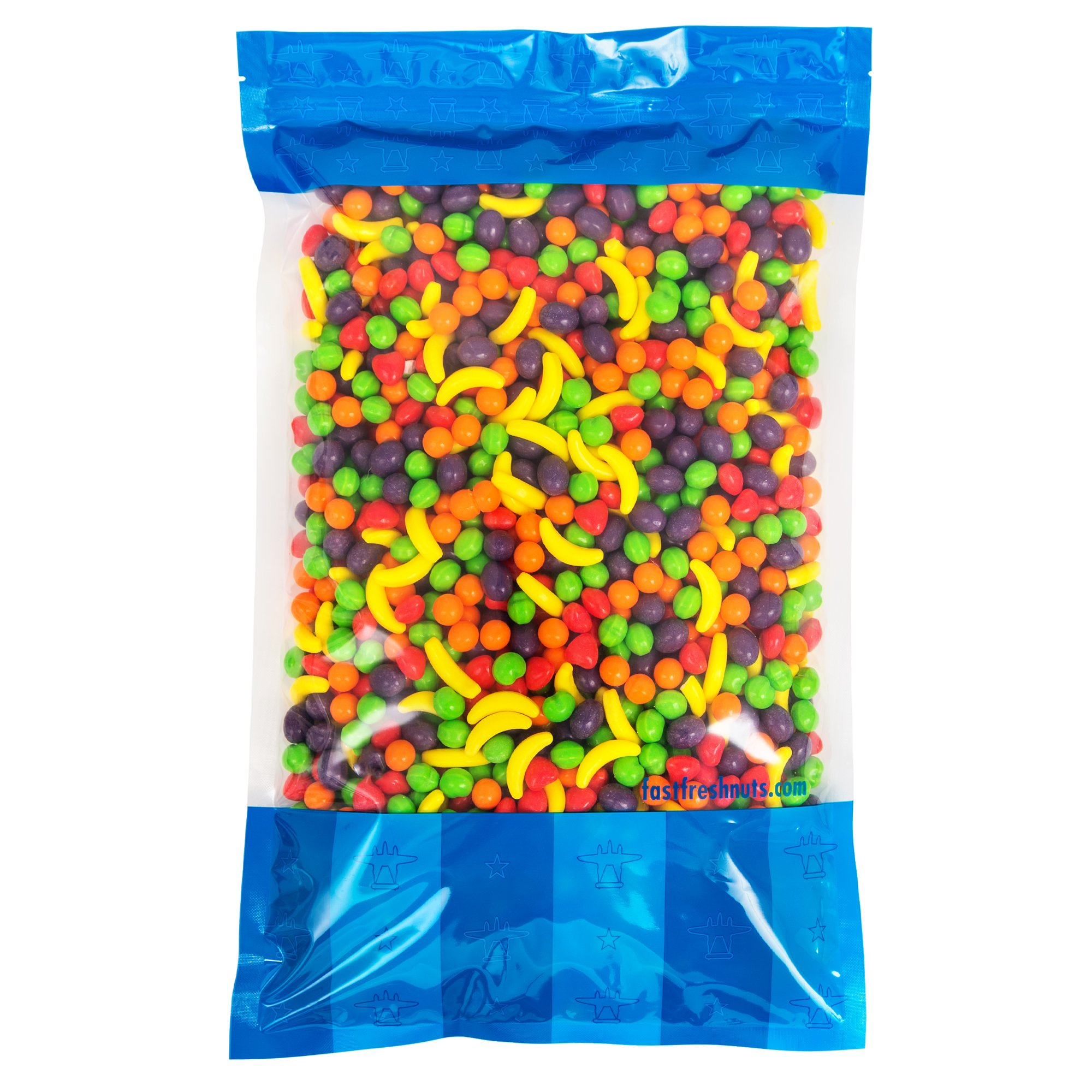 Bulk Runts Fruit Candy 5 lbs In a Resealable Bomber Bag - Great for Candy Bowls - Vending Machine Refills - Wholesale - Parties by Fast Fresh Nuts