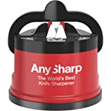 AnySharp Pro Afilador De Cuchillos, Metal (Rojo)