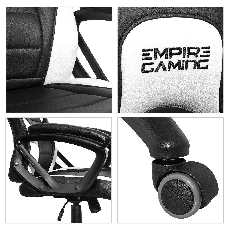 EMPIRE GAMING - - - Gaming Stuhl Racing 500 Serie Weiß - Extrembequeme und weicheArmstützen 4faa78