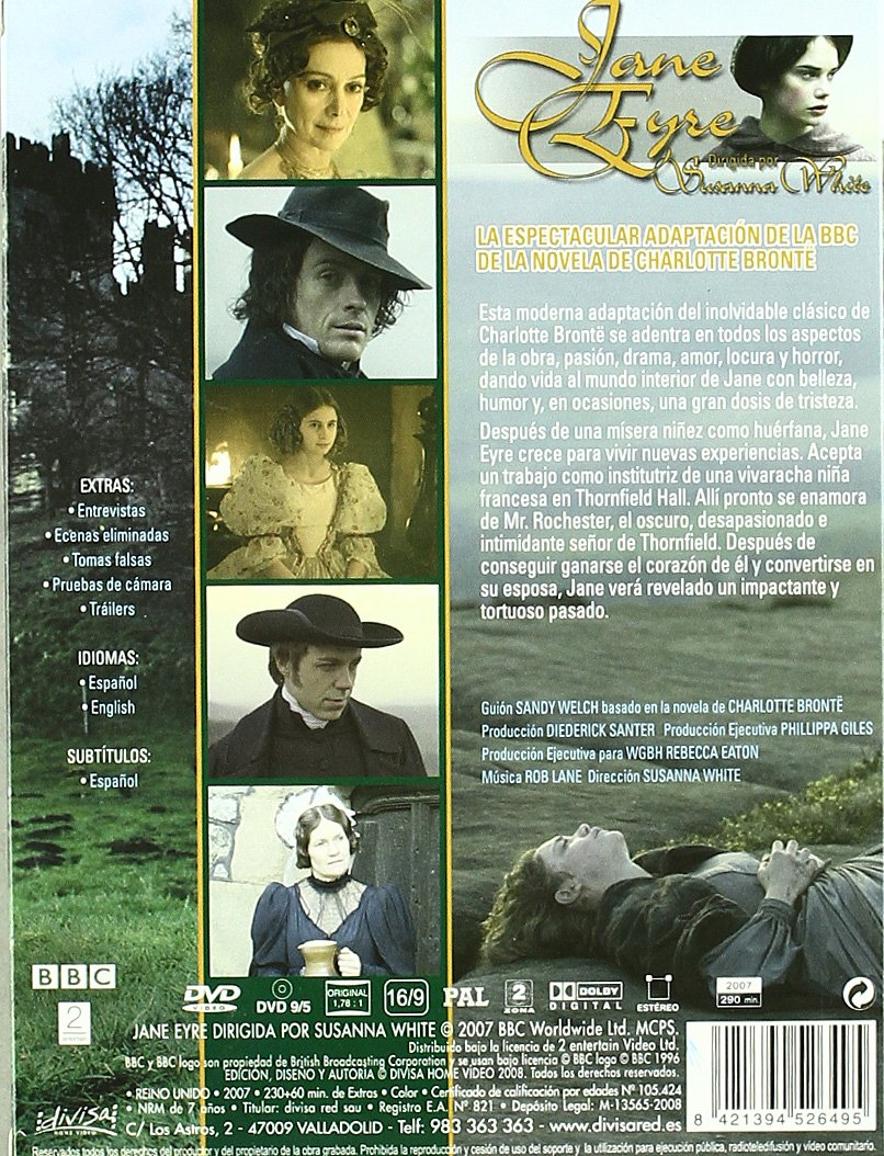 Digipack Jane Eyre (Susanna White) [DVD]: Amazon.es: Susana Write: Cine y Series TV
