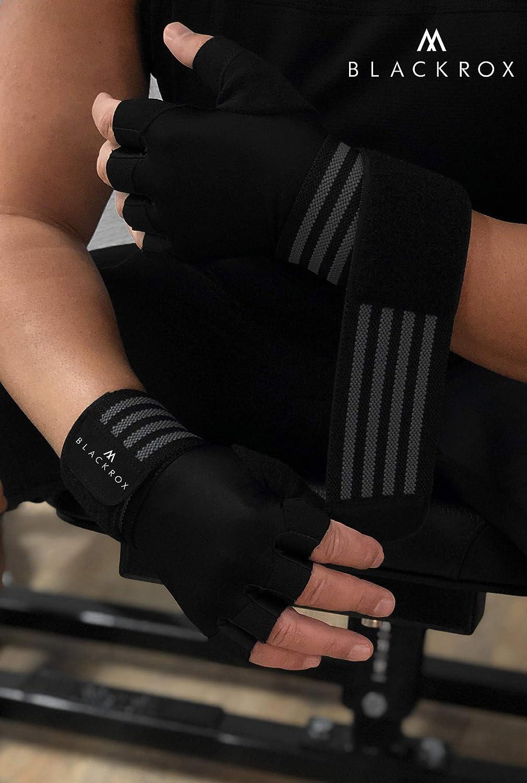 Damen Handschuhe f/ür Kraftsport Klettverschluss Fitnesshandschuhe Bodybuilding Anti-Rutsch-Beschichtung BLACKROX Trainingshandschuhe Vergleichssieger Fitness Handschuhe mit Handgelenkst/ütze Herren u Gym Gloves