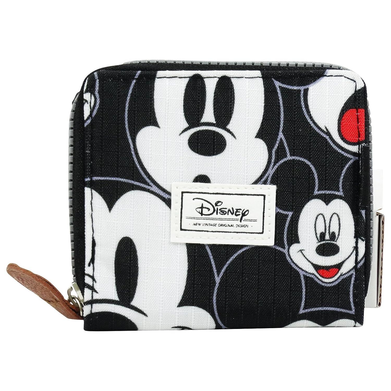 DISNEY Mickey Visage - - Mini Cartera De Señoras - Cerrado con Cremallera y botón metálico - Color Negro: Amazon.es: Equipaje
