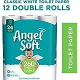 Angel Soft Toilet Paper, 12 Double Rolls, 12= 24 Regular Bath Tissue Rolls