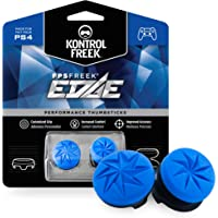 KontrolFreek Fps Freek Edge For Playstation 4 (Ps4) Controller | Performance Thumbsticks | 1 High-Rise Convex, 1 Low-Rise Convex | Blue