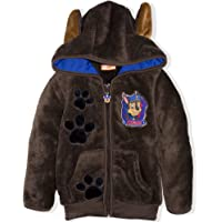 Paw Patrol Boys Sherpa Coral Fleece Hoodie Warm Cosy Winter Jacket 2-6 Years - Marshall, Chase