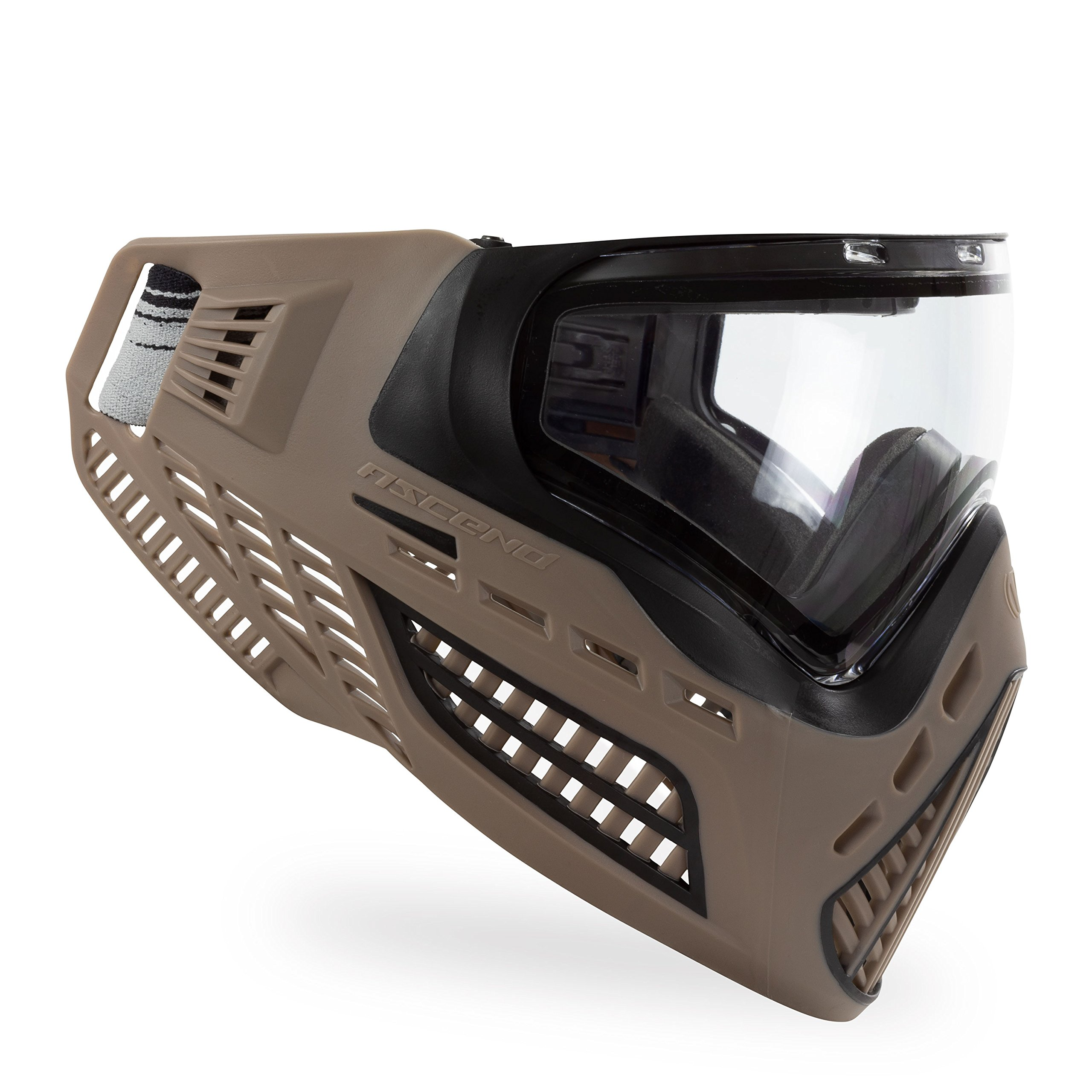 Virtue VIO Ascend Thermal Paintball Goggles with Dual Pane Lens (FDE Clear) by Virtue Paintball
