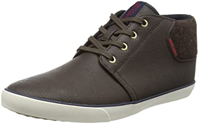 JACK & JONES Herren Jfwvision Washed Canvas Suede Mix Navy Low-Top, Blau (Navy Blazer), 42 EU