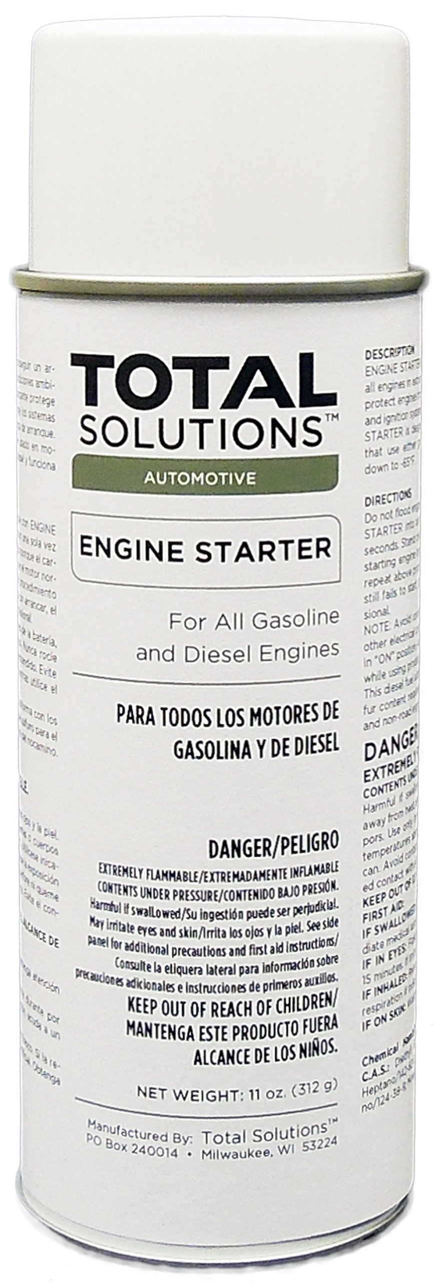 Engine Starter Aerosol - Provides quick starts in cold, damp weather - 12 Can Case by ChemJoe