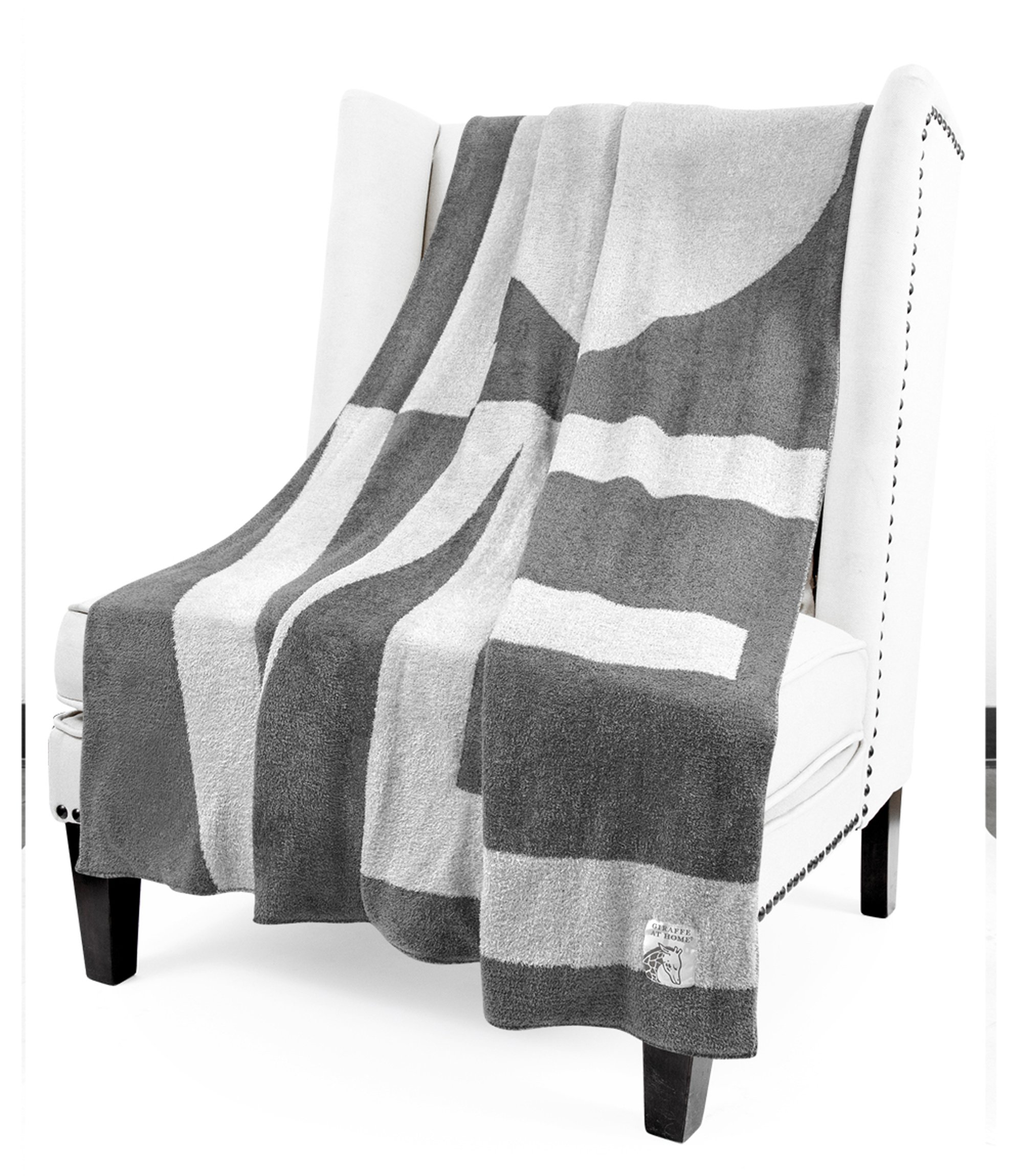 Giraffe at Home Dolce Love Throw, Charcoalsilver, 45'' x 59''