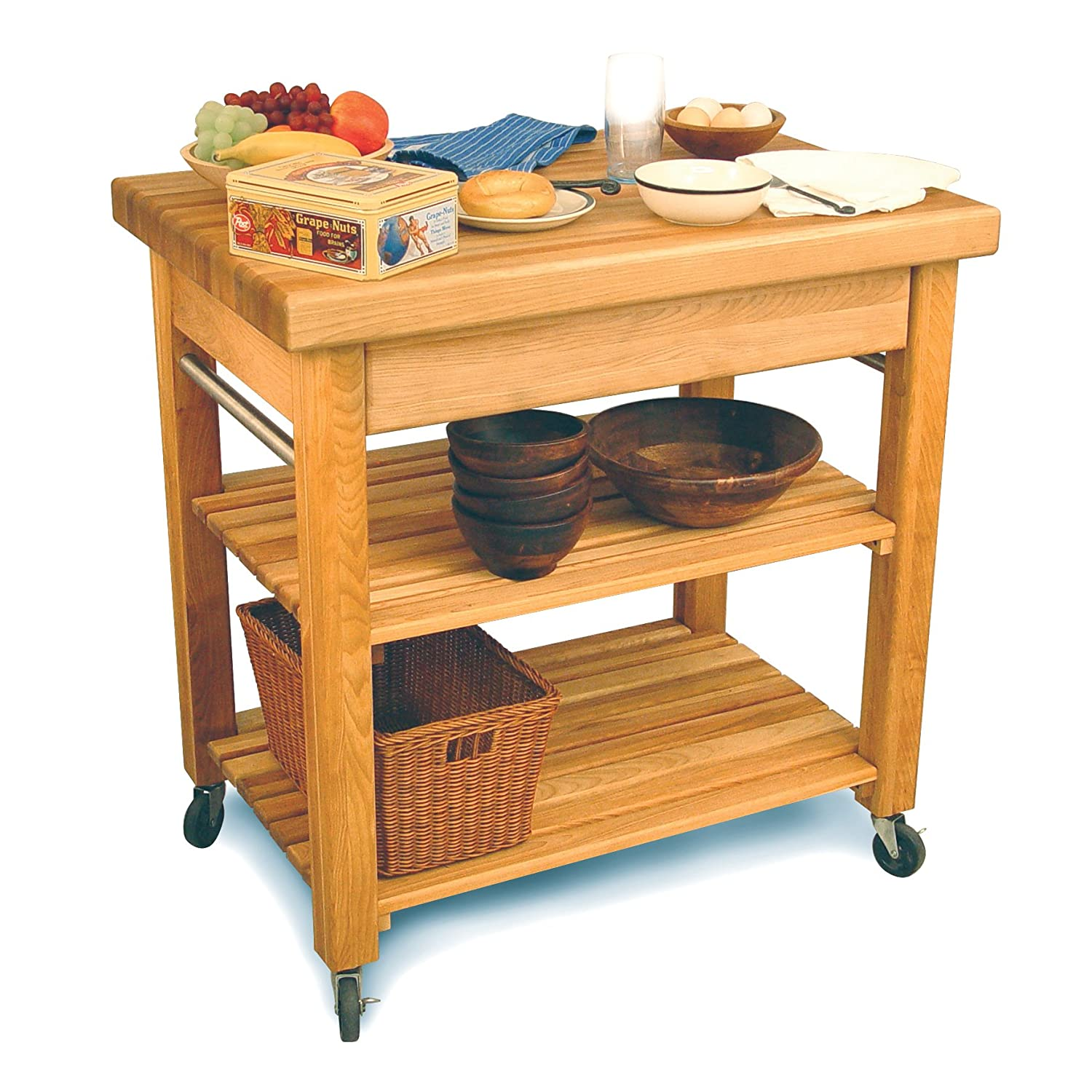 Amazon.com: Catskill Craftsmen French Country Workcenter: Kitchen U0026 Dining