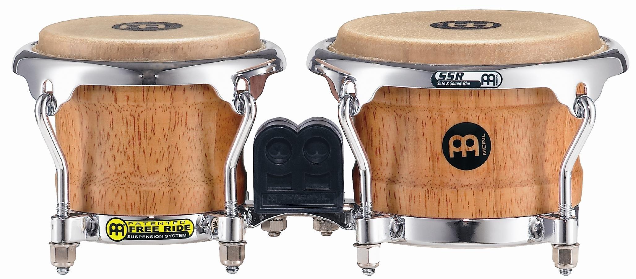 Meinl Percussion FWB100SNT-M Mini Rubber Wood Bongos, 3.25-inch & 4-inch (VIDEO)