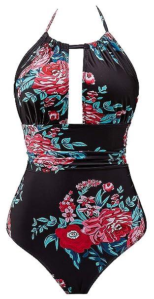 Amazon.com: B2prity traje de baño de una pieza para mujer ...