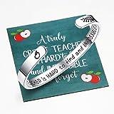 Ldurian Teachers Bracelets, Teacher Appreciation Week Gifts Ideas, Inspirational Cuff Bangle, Graduation Jewelry for Teachers