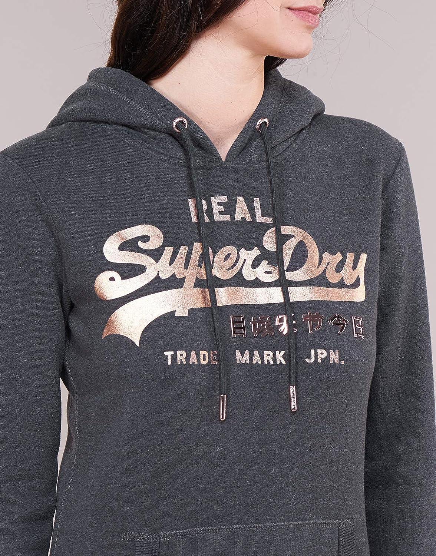 Superdry Damen Vintage Logo Metalwork Entry Hood Kapuzenpullover