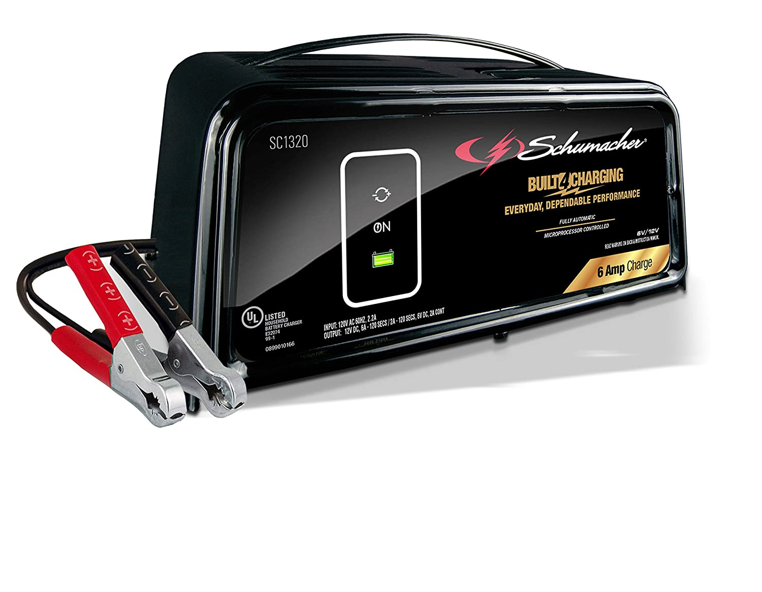 Schumacher SC1320 6/12V Fully Automatic Battery Charger and 6A Maintainer