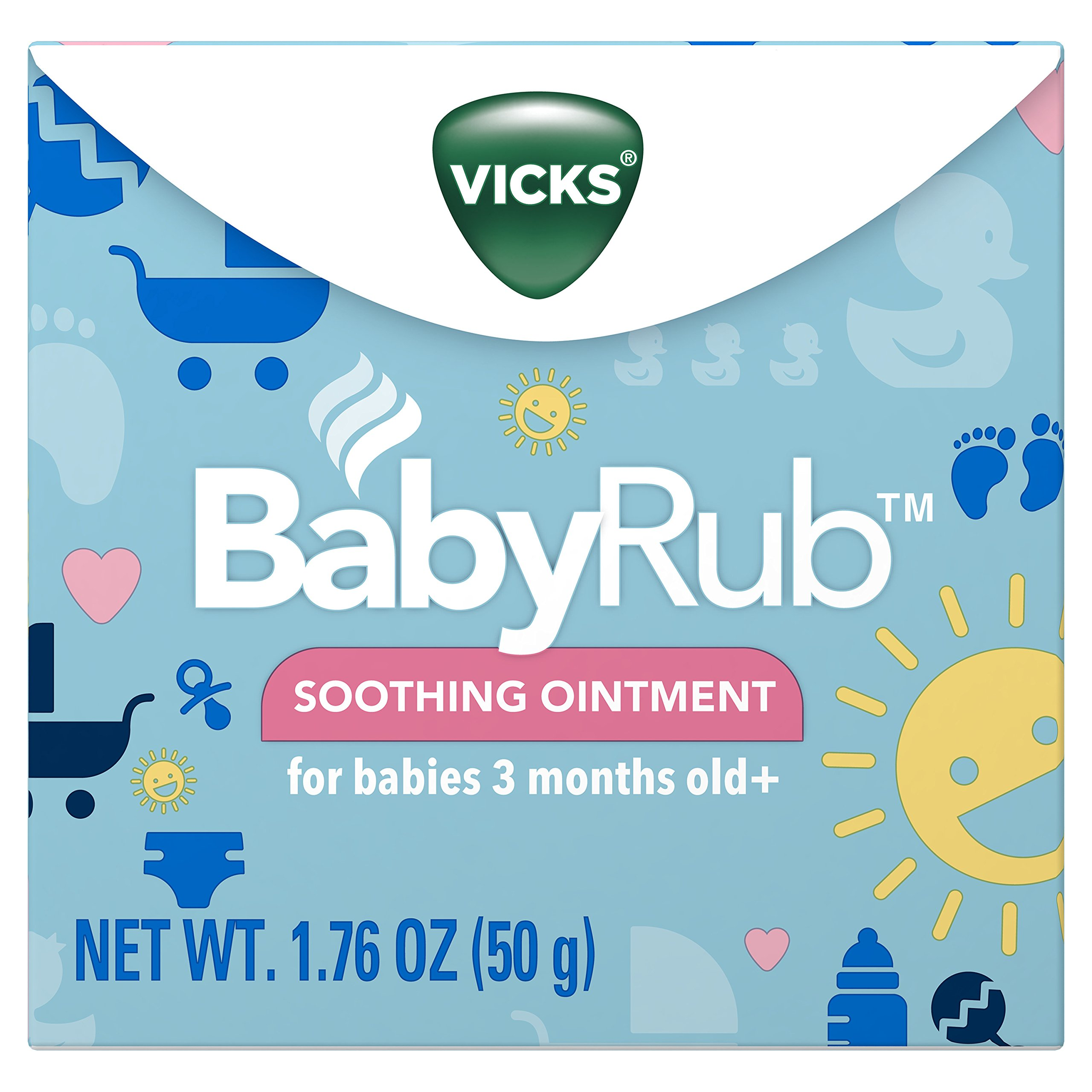 Vicks Babyrub Soothing Ointment, 1.76 Ounce