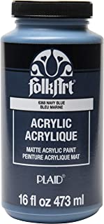 product image for FolkArt Matte Acrylic Paint in Assorted Colors, 16 oz, Navy Blue 16 Fl Oz