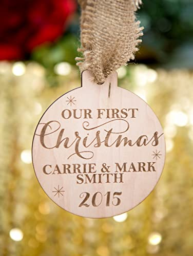 ornament for couples first christmas newlywed wedding gift christmas ornament for wedding gift bride and groom - Couples First Christmas Ornament