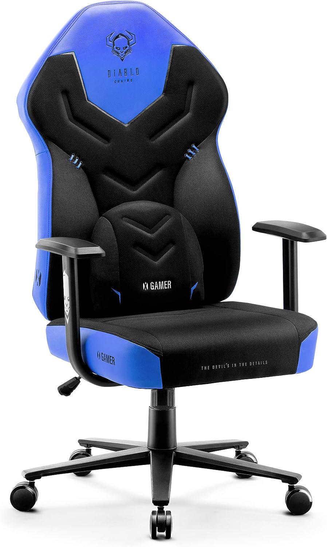 sillas gamer diablo azules para niños
