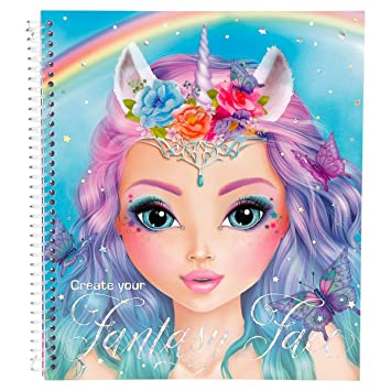 Top Model Create Your Fantasy Face Colouring Book 40 Pages 3 X