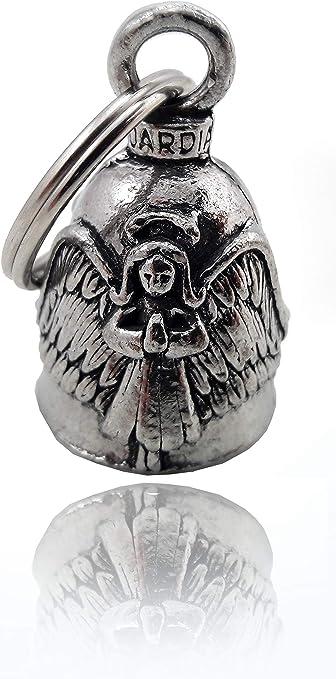 Daywalker Bikestuff Schutzengel Engel Angel Angelo Guardian Bell Protect Your Ride Mit Schwarz Gepulverter Halterung Auto