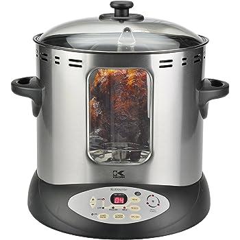 Amazon Com Kalorik Stainless Steel Rotisserie Grill
