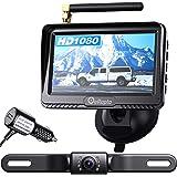 eRapta ERT03 1080P Wireless Backup Camera with Monitor for Car Pickup Truck Sedans Back Up Reversing Rear Front View Parking