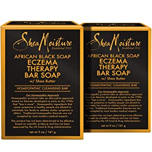 SheaMoisture African Black Soap Eczema Therapy Bar Soap | Pack of 2 | 5 Ounce