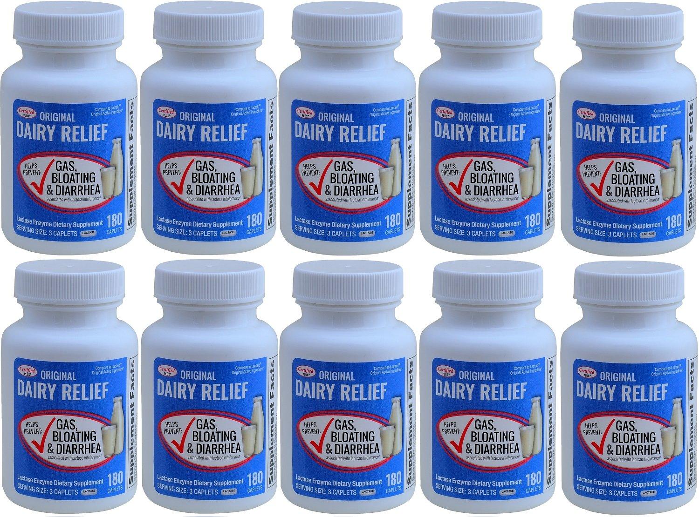 Lactase Enzyme 1800 Caplets Generic Lactaid Original Strength