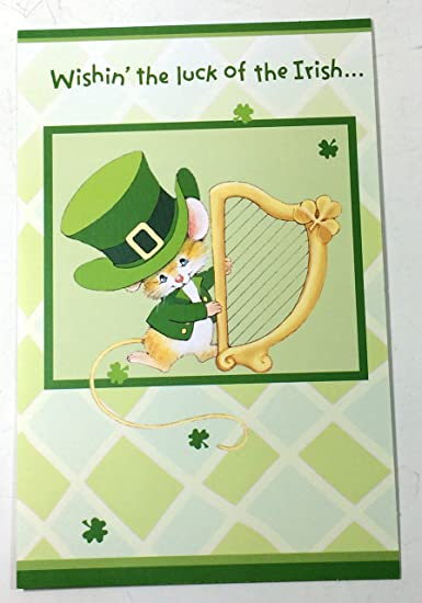 Amazon st patricks day cards for kids wishin the luck of st patricks day cards for kids wishinquot the luck of the irish m4hsunfo