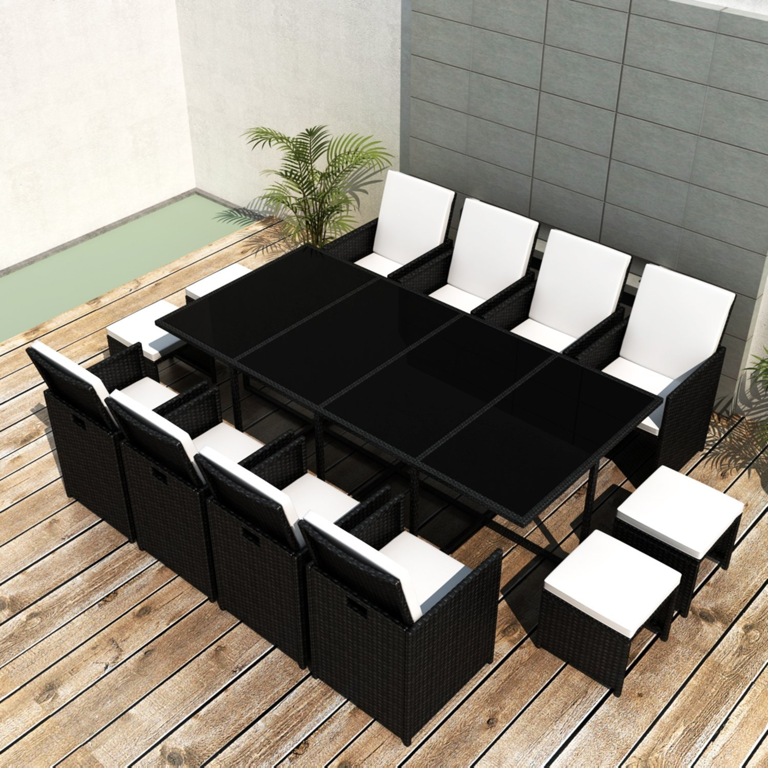 ssitg poly rattan gartenm bel essgruppe gartengarnitur set sitzgruppe sessel lounge g nstig kaufen. Black Bedroom Furniture Sets. Home Design Ideas