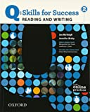 Q: Skills for Success 2 Reading & Writing Student Book with Student Access Code Card