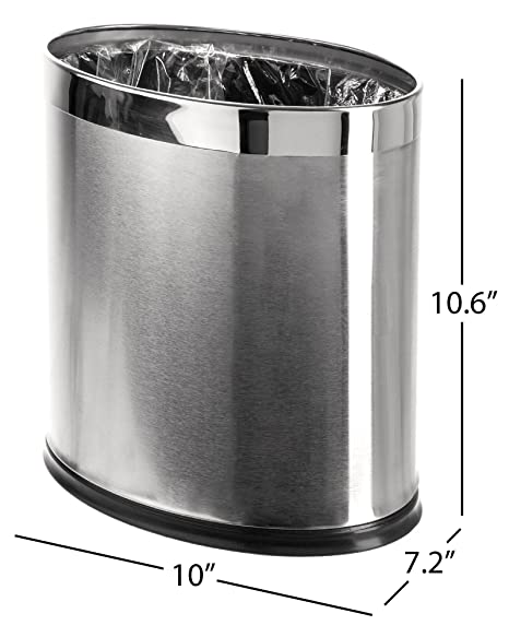 Amazoncom Brelso Invisi Overlap Open Top Stainless Steel Trash