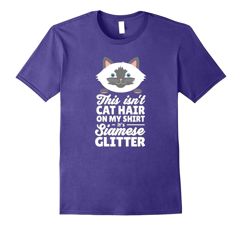 Womens Siamese Cat Shirt Glitter-Awarplus