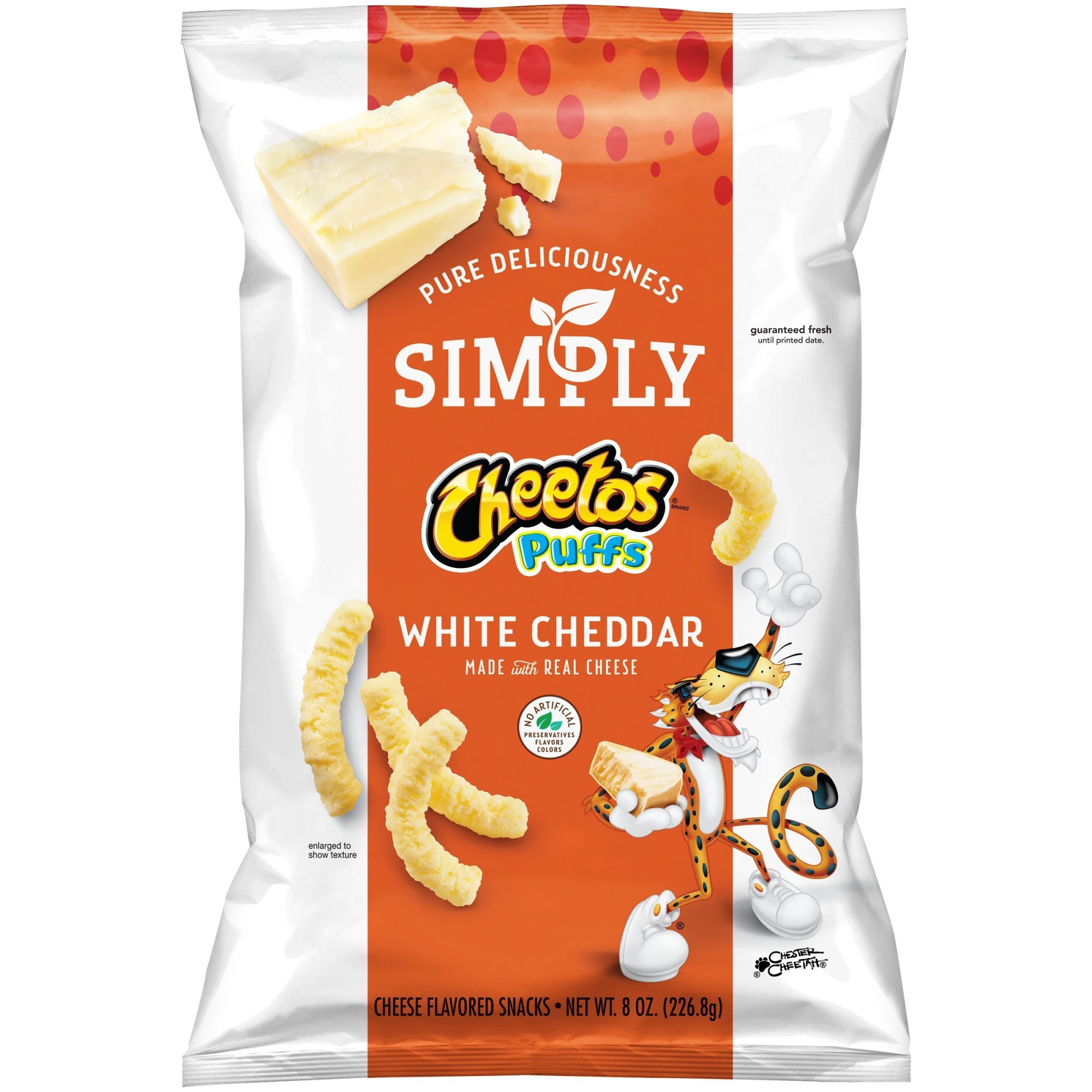 Simply Cheetos Puffs White Cheddar Cheese Flavored Snacks (White Cheddar 8 oz.)