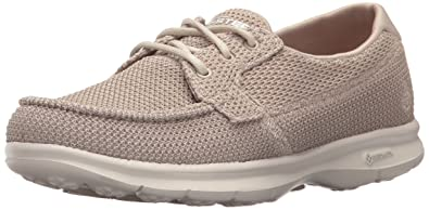Skechers Women's Go Step Deck Boat Shoe Taupe: Amazon.in