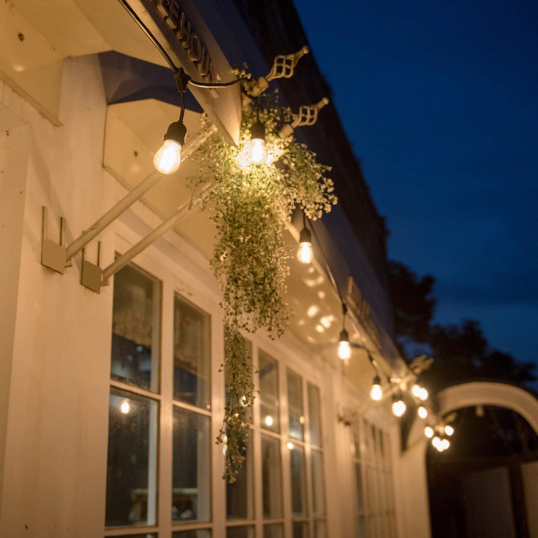Dekolampe f/ür Ihnen//Aussen Hochzeit Hof Party Feier ECOWHO Wasserdicht LED Lichterkette Set Weihnachten keine Leuchtmittel enthalten Biergarten Lichterkette Au/ßen mit 9 E27 Fassungen